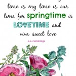 Spring Printable: E.E. Cummings Quote