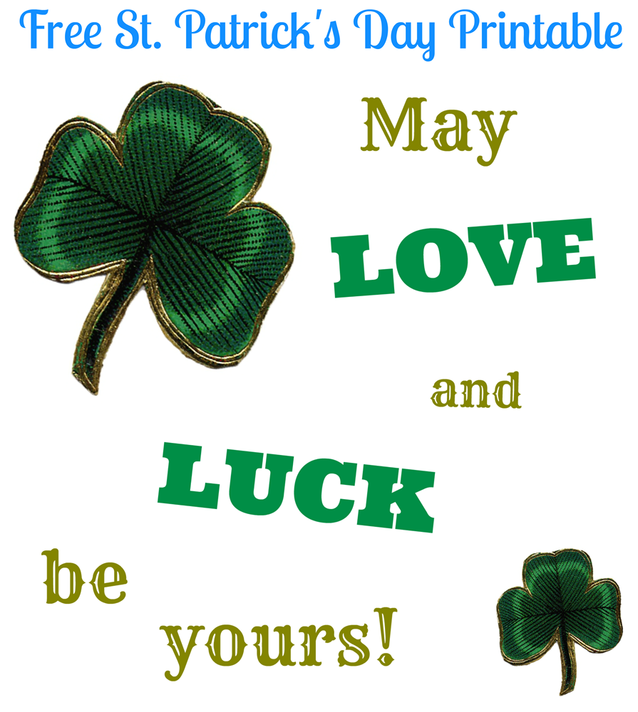 Free St. Patrick's Day Printable from Pet Scribbles