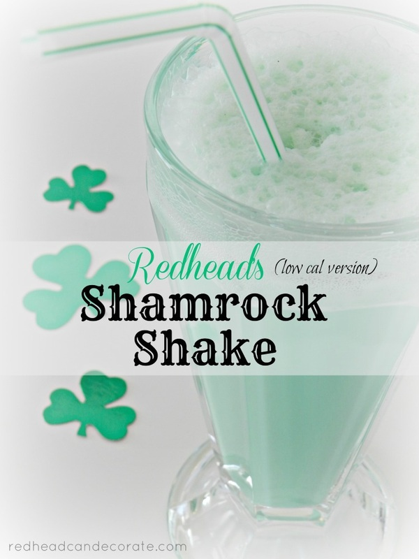Redhead's Version of the Shamrock Shake | Redhead Can Decorate