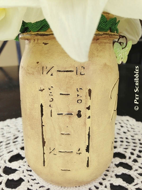 Distressed Mason Jar Vase and Distressed Luminary Tutorials