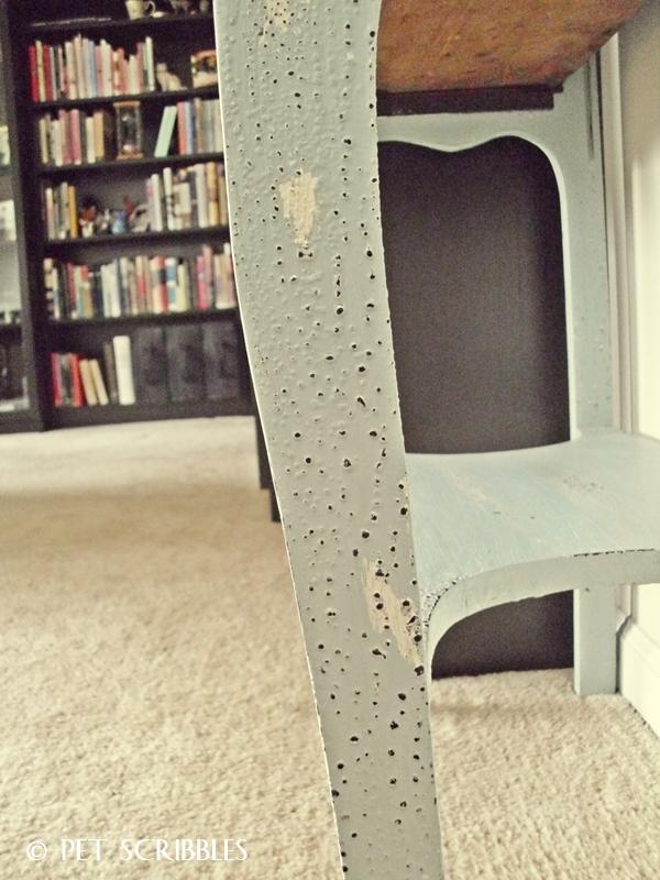 Chippy Paint Antique Secretary Desk leg