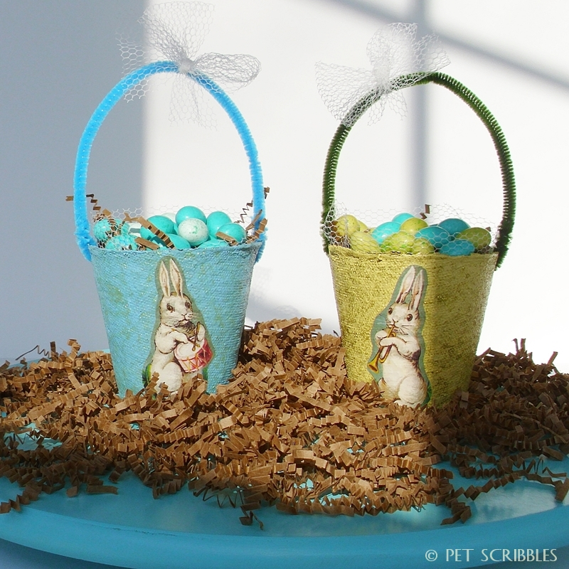 Last-Minute Craft: Easter Basket Peat Pots by Pet Scribbles via Parade Magazine
