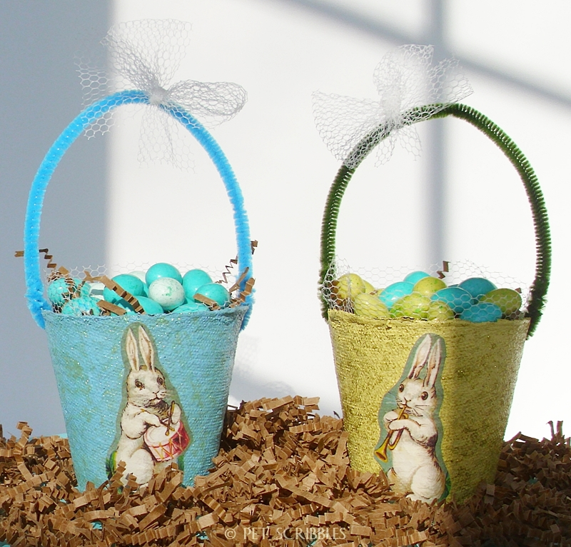 Easter Basket Peat Pots DIY