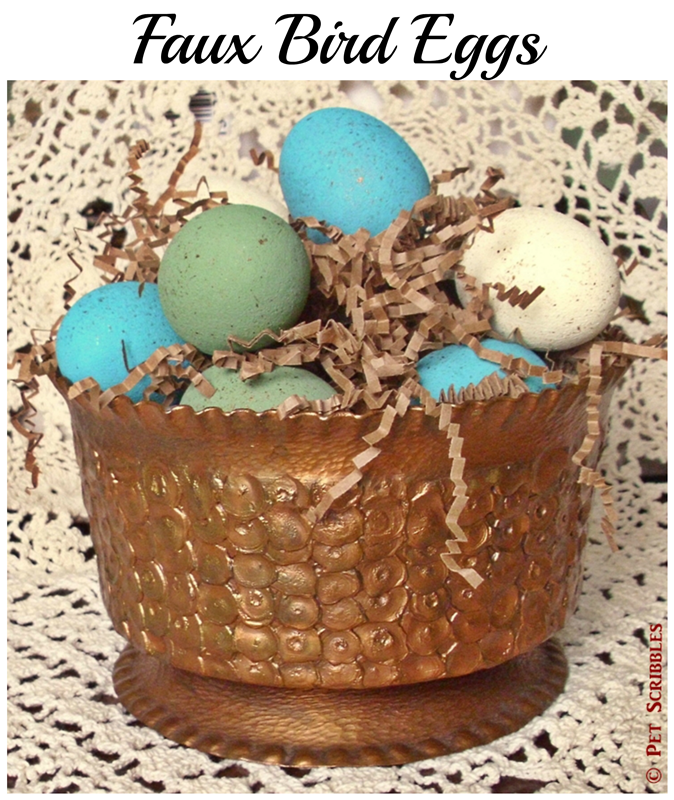 Faux Bird Eggs DIY