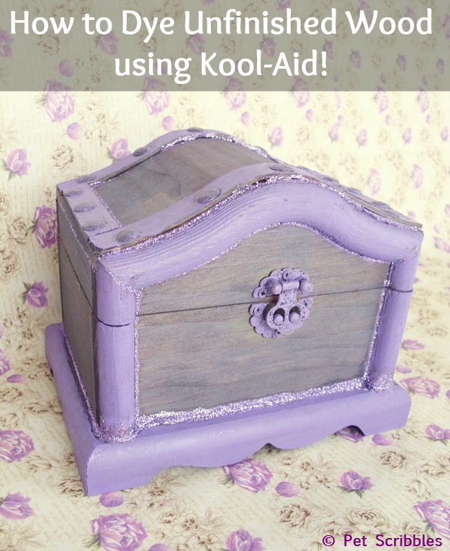 How to Dye Unfinished Wood using Kool-Aid!  #KoolOff  #shop