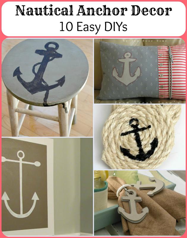 Nautical Anchor Decor - 10 Easy DIYs