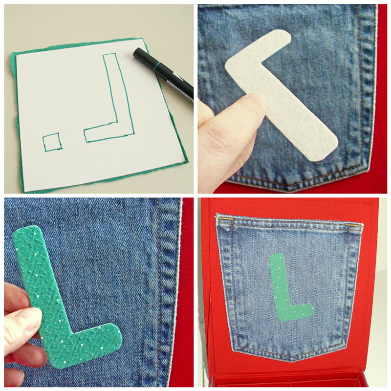 Make a Denim Box: a fun kids craft using Phoomph! (includes short video too!)