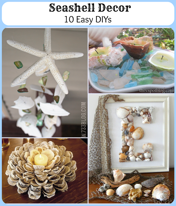 Seashell Decor -- 10 DIYs for your nautical beach home decor style!