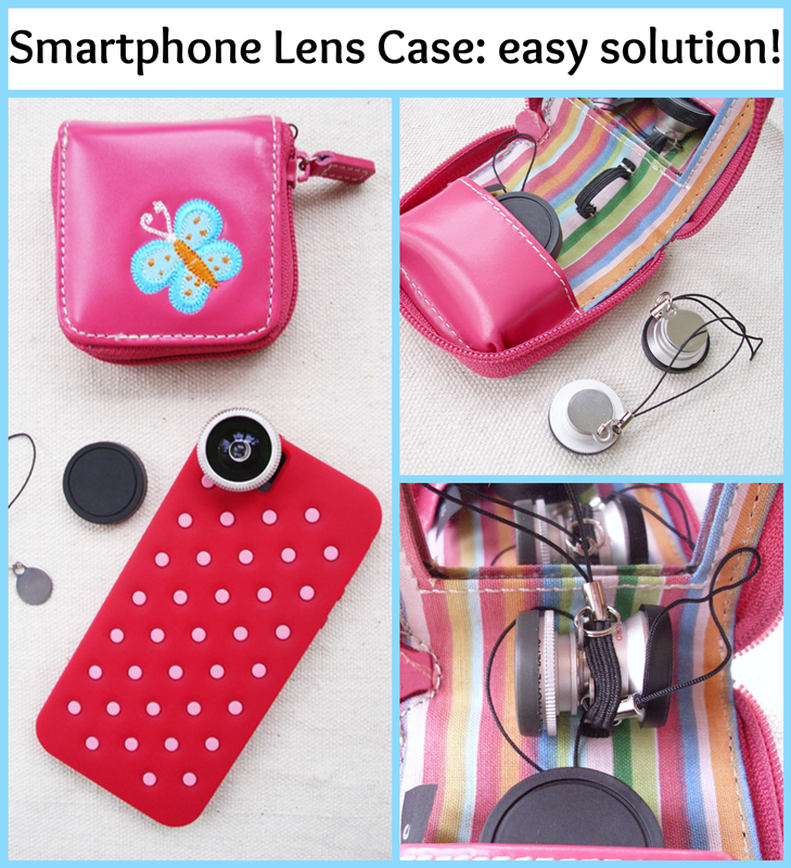 Smartphone Lens Case: Easy solution to protect your camera lenses just by repurposing a contact lens travel case!