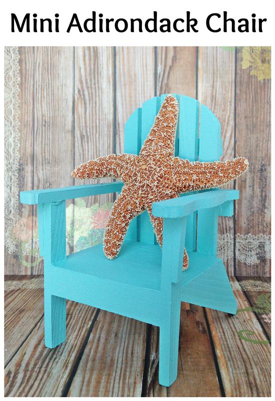Mini Adirondack Chairs: two ideas for your nautical decor or wedding!