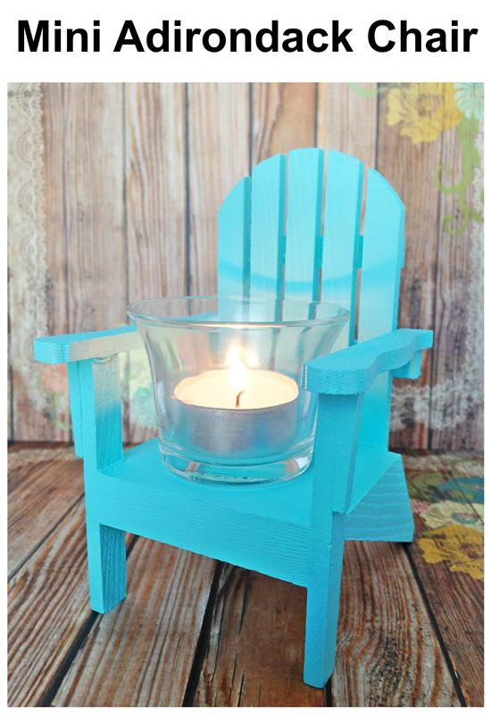 Mini Adirondack Chairs: two ideas for your nautical decor or wedding!