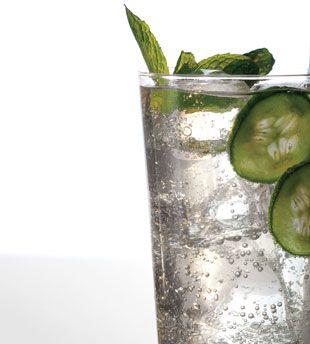 Cucumber Mint Basil Soda (non-alcoholic) | Bon Appétit