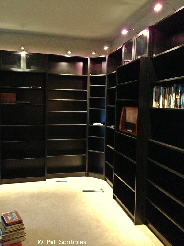 Time to start filling up the IKEA Billy bookcases with... books!