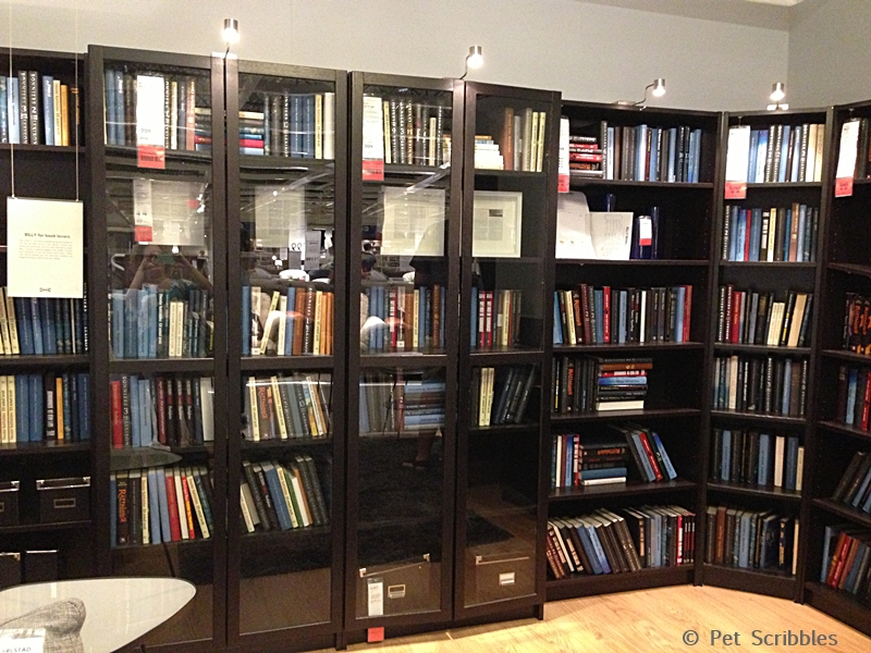 library room makeover with ikea bookcases pet scribbles. Black Bedroom Furniture Sets. Home Design Ideas