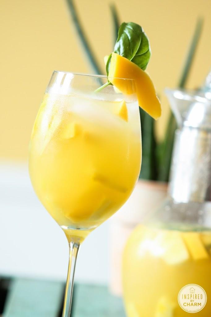 Pineapple Mango Basil Sangria recipe | Inspired by Charm