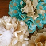 Polka Dot Tissue Paper Flowers (big!)