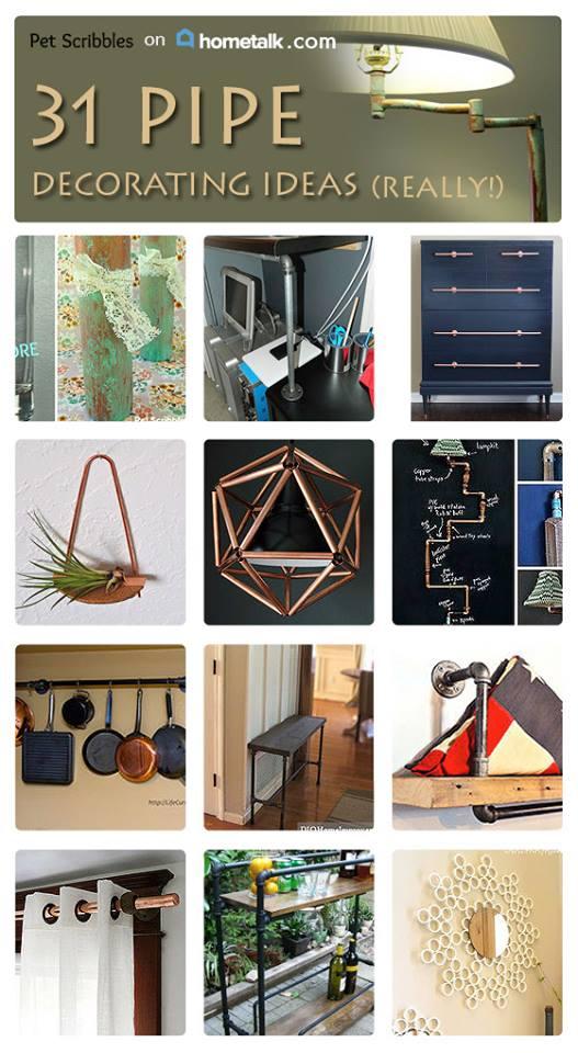 The Pipe Decor Trend: 31 Amazing DIYs
