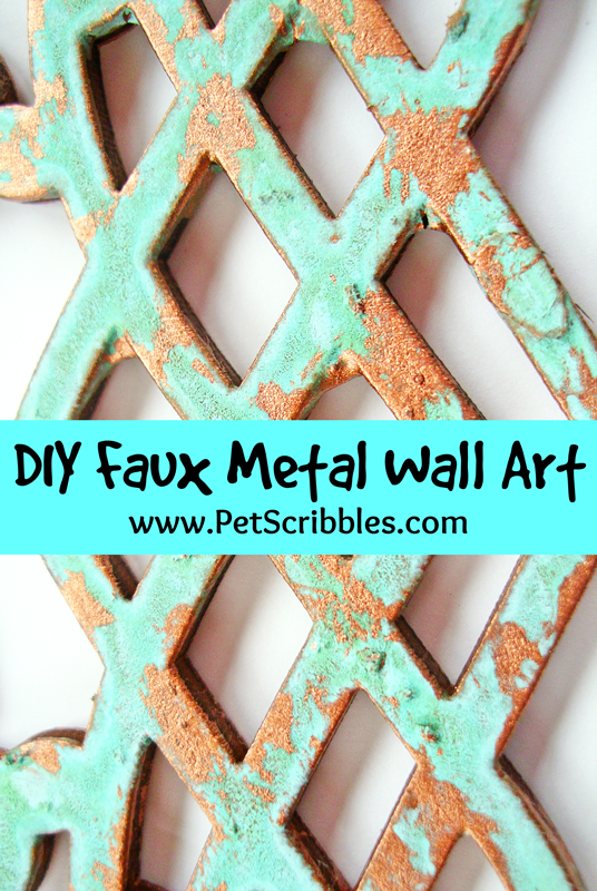 diy faux metal wall art pet scribbles