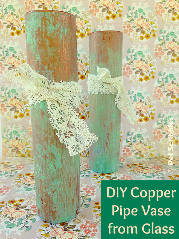 Copper Pipe Vase Tutorial! It's crafting + a tiny bit of science! No worries: the science is done for you! So cool!
