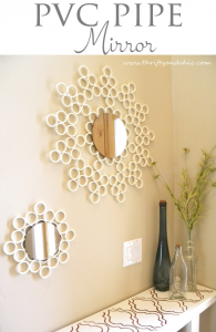 PVC Pipe Mirror tutorial by Thrifty and Chic