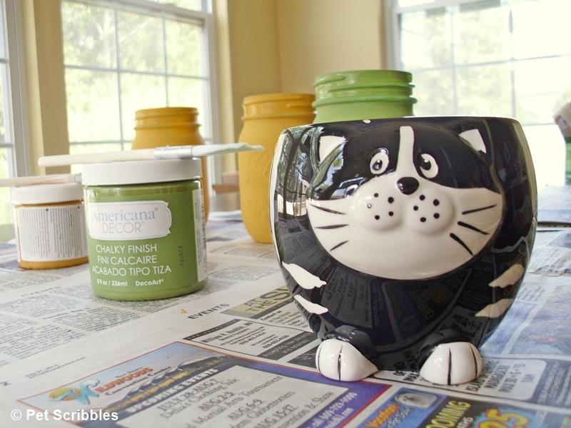 Blue Mason Jar Vases: painted and distressed! (tutorial)