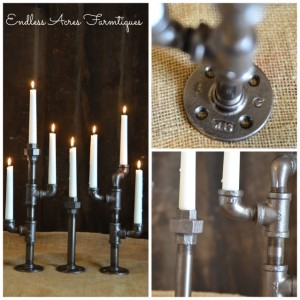 Pipe Fitting Candle Holders Tutorial by Endless Acres Farmtiques