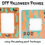 Halloween Craft: Painted Picture Frames