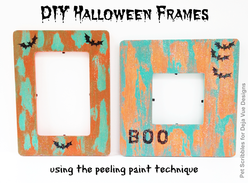 Halloween Craft: Painted Picture Frames - Pet Scribbles