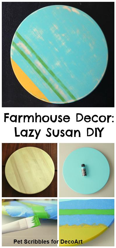 Farmhouse Decor: Lazy Susan DIY