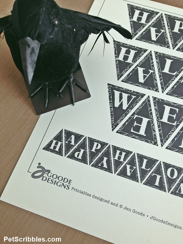 Halloween Crow Art (with free printable!)