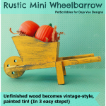 DIY Rustic Mini Wheelbarrow