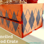 Fall Decor: Stenciled Wood Crate