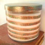 Glass Jar Candle Makeover with copper foil tape and paint