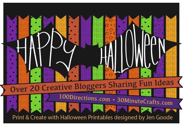 Happy Halloween Printable Blog Hop, using designs by Jen Goode