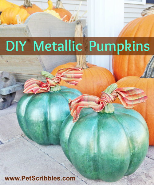 DIY Metallic Pumpkins