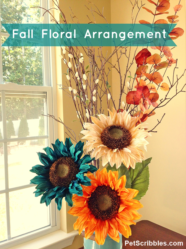 DIY Fall Floral Arrangement