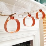 Fall Decor: Pumpkin Cookie Cutter Garland