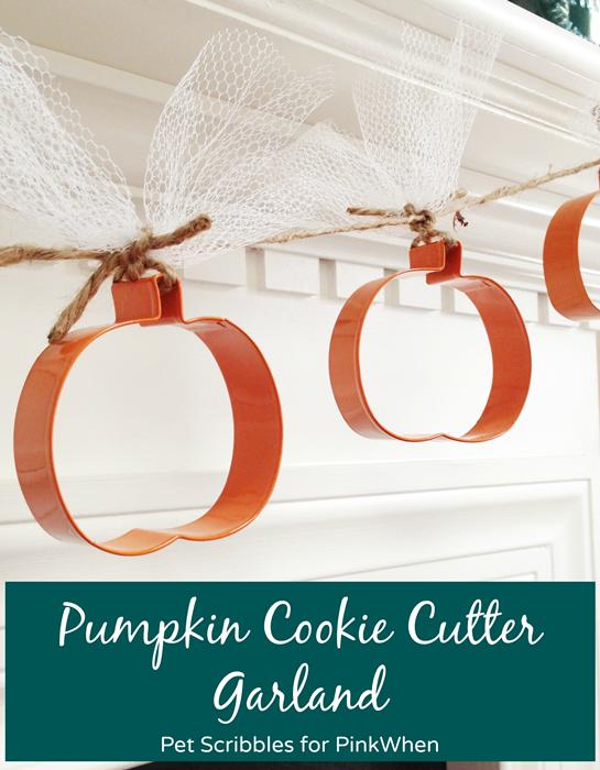 Fall Decor: Pumpkin Cookie Cutter Garland plus 3 easy decorated pumpkin DIYs
