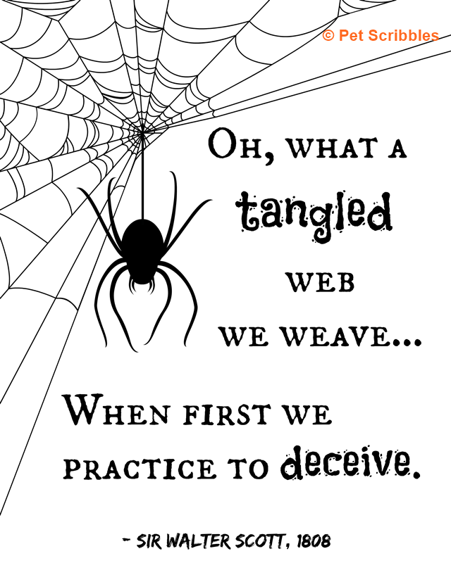Halloween Printable: Oh what a tangled web we weave!