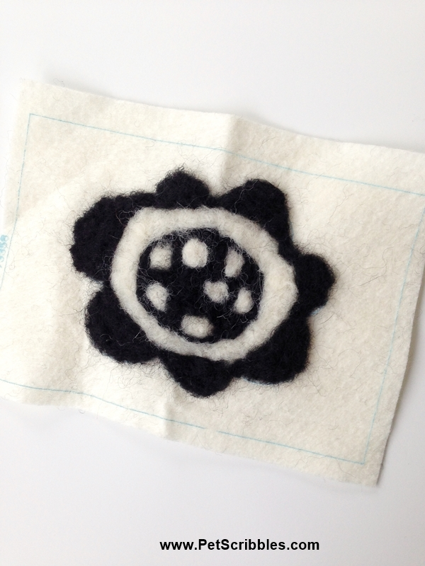 needle felted flower an easy beginner kit successfully completed!