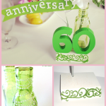 60th Anniversary Wedding Centerpiece DIY