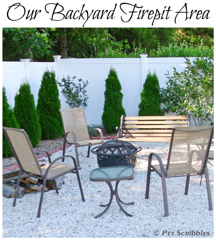 our DIY backyard firepit area