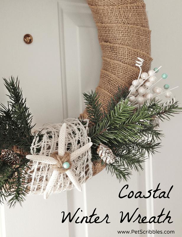 DIY Coastal Winter Wreath to enjoy throughout the Winter season!