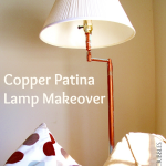 Thrift Store Lamp Gets Gorgeous with Copper and Patina Finish