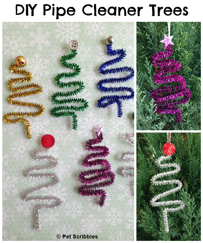 DIY Pipe Cleaner Trees - make these in under 15 minutes! Fun kids craft!