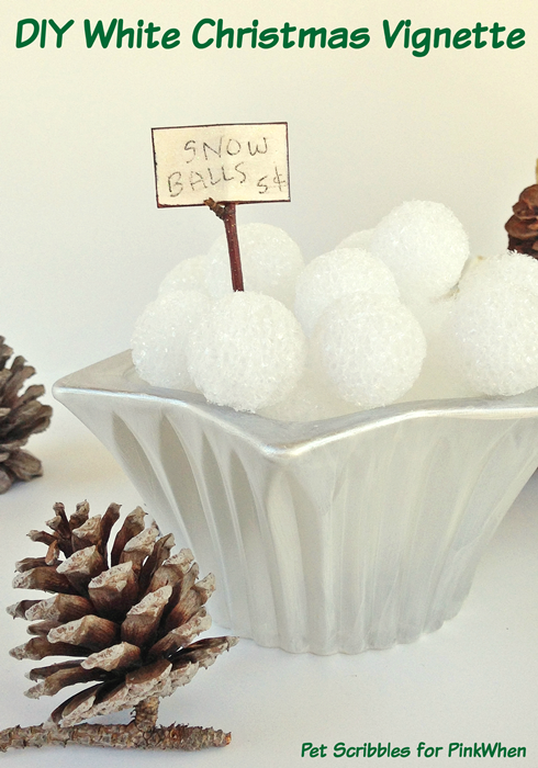 White Christmas: Painting Crystal Candle Holders