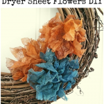Dryer Sheet Flowers DIY
