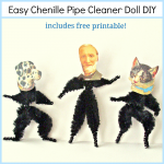 Chenille Pipe Cleaner Doll – a basic tutorial