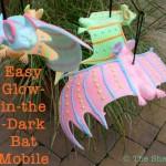 Easy Glow-in-the-Dark Bat Mobile