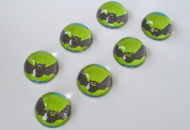 Halloween Black Bat Magnets Etsy Pet Scribbles